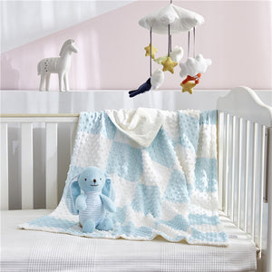 2pcs/set Baby stuffed animal toy soothe blanket