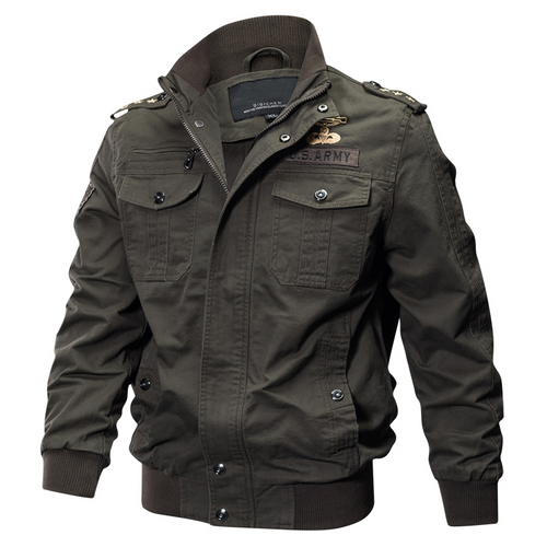 Men's Daily Military Spring / Fall / Winter Plus Size Regular Jacket