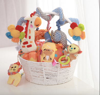 Newborn baby plush toy gift box