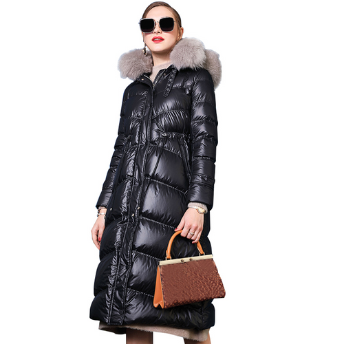 Fox Fur Women Down Coat  jacket