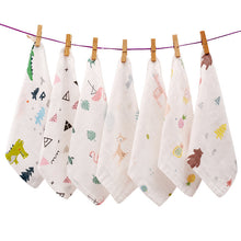Load image into Gallery viewer, Baby cartoon saliva towel baby towels