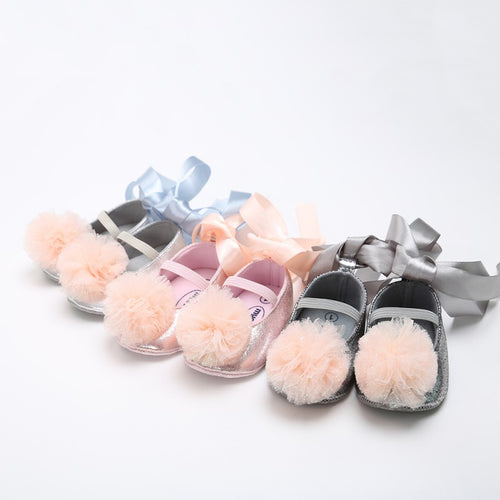 Baby bow princess shoes