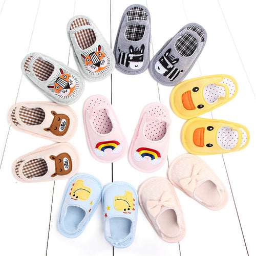 Fashion cotton baby non-slip slippers