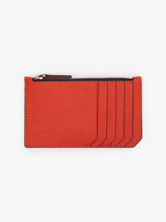 Albee Leather Zip Card Case