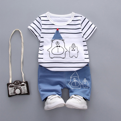 2-piece Toddler Boys Striped Bear