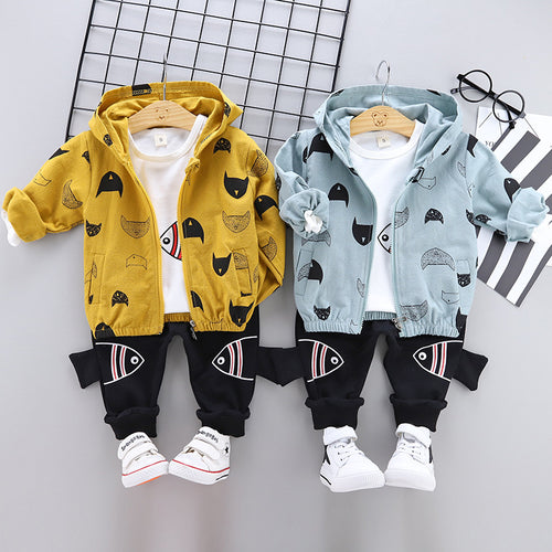 Baby cotton three-piece