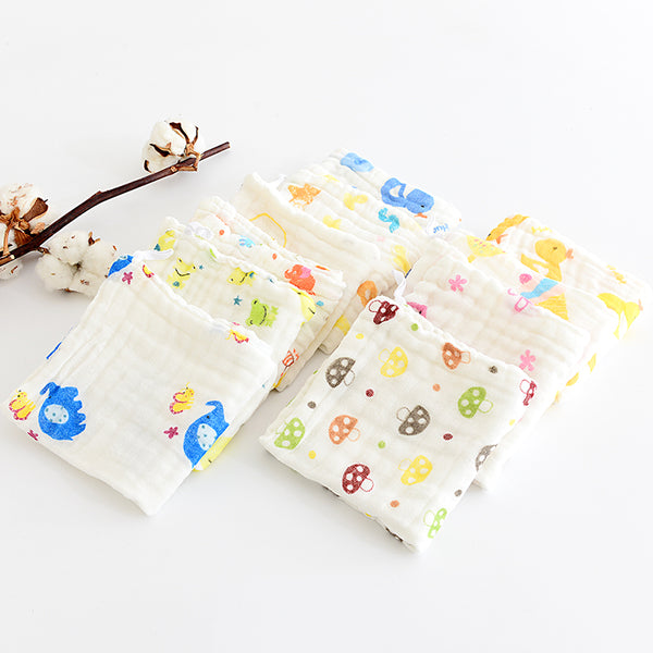 5/10 pieces / baby square fruit pattern towel