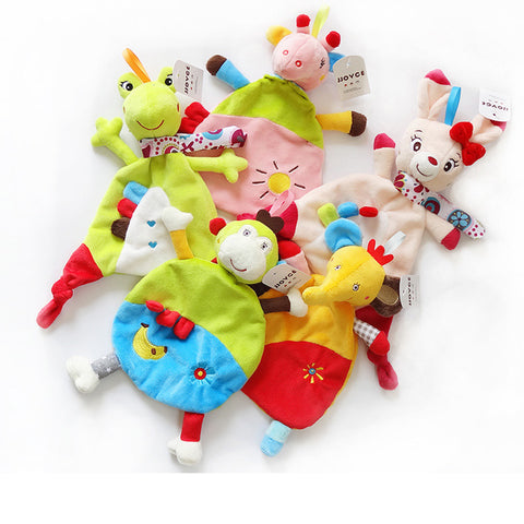 Baby plush soothing toy blanket