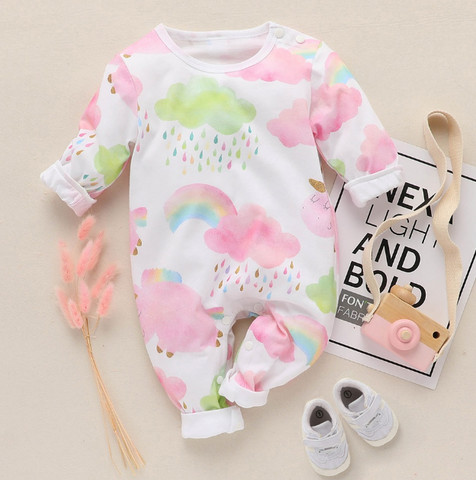 Baby/Toddler's Colorful Rainbow Jumpsuit