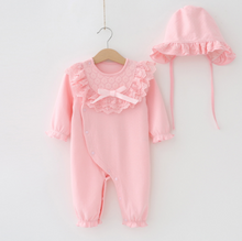 Load image into Gallery viewer, Baby girl dress for first birthday jumpsuit