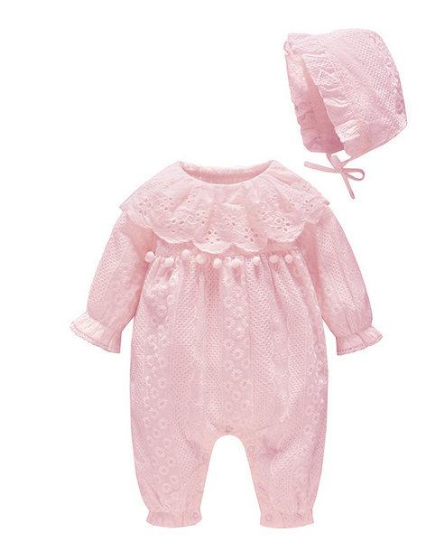 Lace hair ball cotton baby onesies