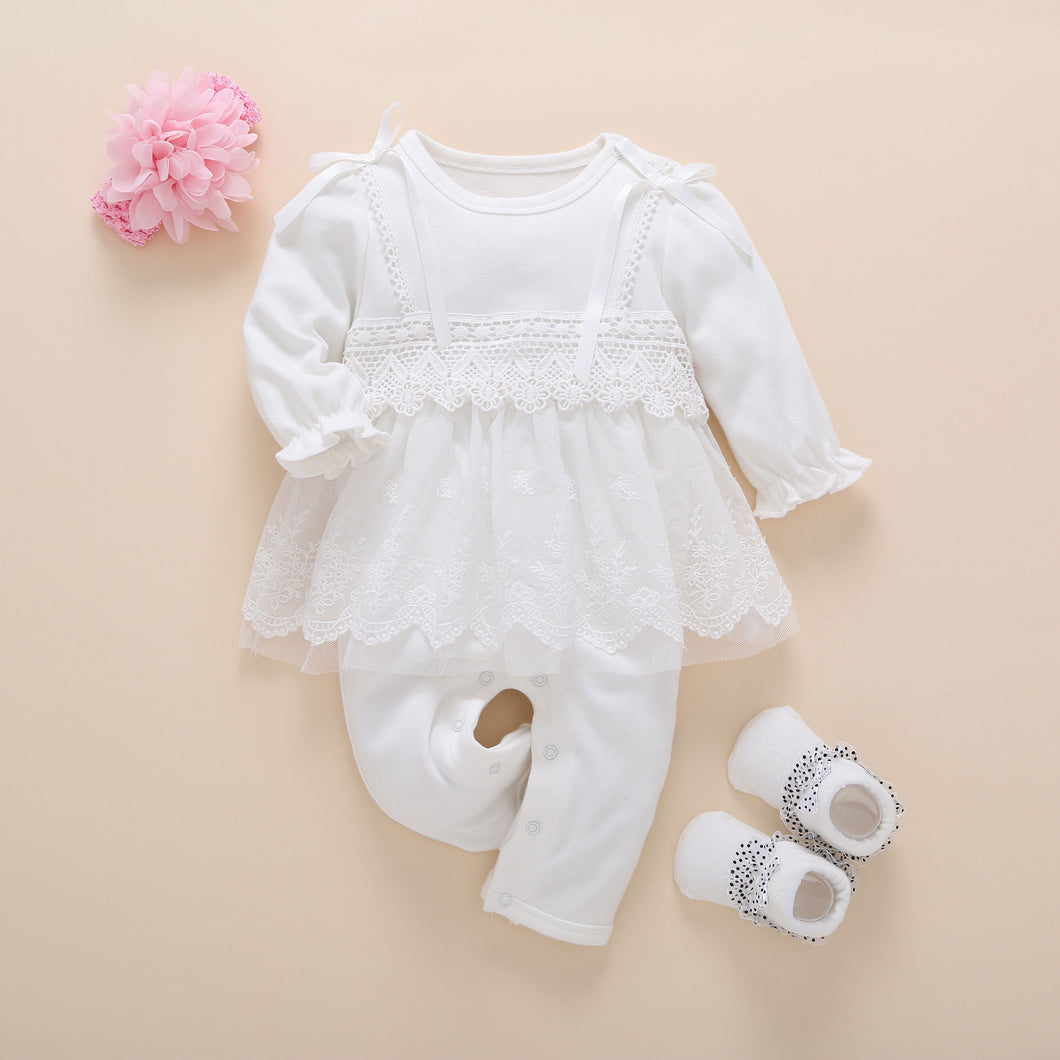 Newborn baby lace side suit
