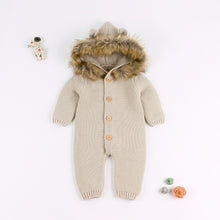 Load image into Gallery viewer, Baby cartoon bear knit jumpsuit