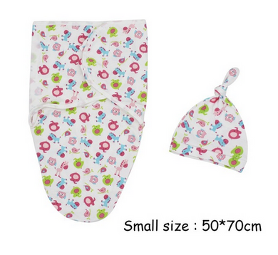 Two-piece newborn baby wrapped blanket diaper