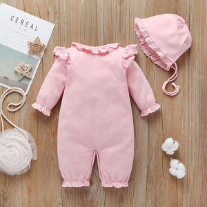 Stylish baby boy girl clothes Hooded jumpsuit