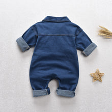 Load image into Gallery viewer, Baby denim jumpsuit