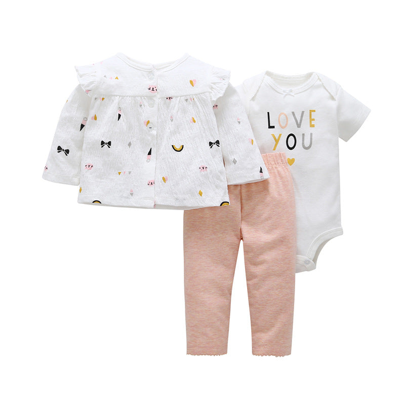 Cartoon newborn baby cotton suit