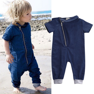 men's sleeveless onesies super soft denim