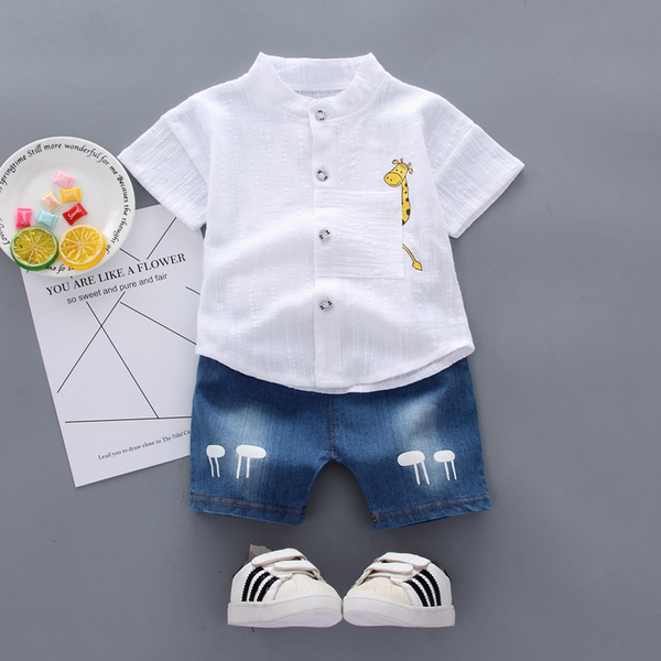 Baby Boy Clothes Solid Color  2Pcs Oitfits