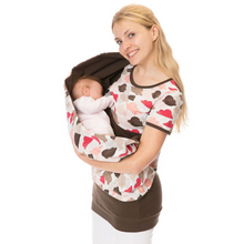 Load image into Gallery viewer, Ladies breastfeeding care suit print T-shirt