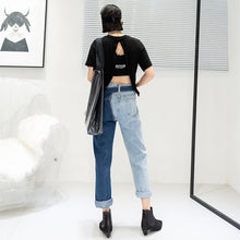 Load image into Gallery viewer, Contrast stitching fashion female jeans