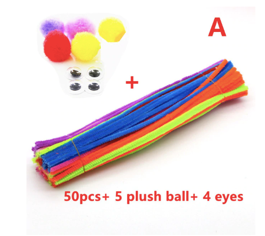 Colorful Pipe Cleaner DIY Toys