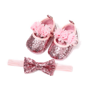 Children's sequin party dress shoes