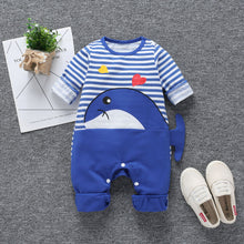 Load image into Gallery viewer, Cartoon whale  trendy baby boy clothes
