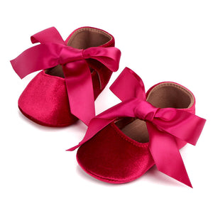 New princess silk bow toddler shoes