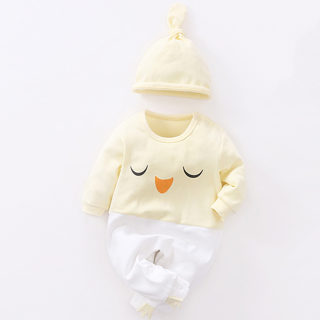 Baby long sleeve cotton hoodie with cap