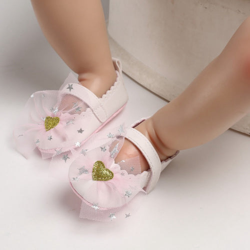 Cute newborn baby bow toddler shoes