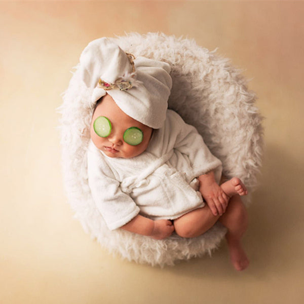 Newborn baby soft bathrobe