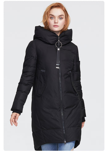 Women's oversized winter warm down jacket