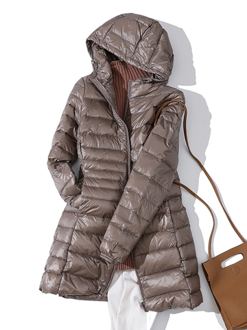 7XL Winter Woman Padded Hooded Long Jacket