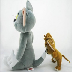 Cat and mouse plush doll