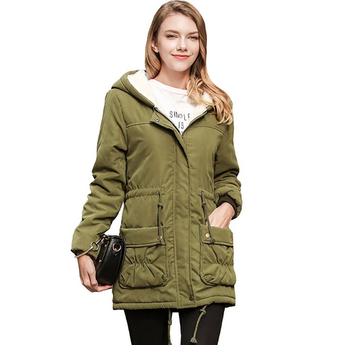 Faux-Fur-Trim Hooded Anorak