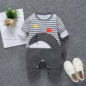 Cartoon whale  trendy baby boy clothes