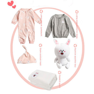 Newborn baby toy clothes blanket gift set