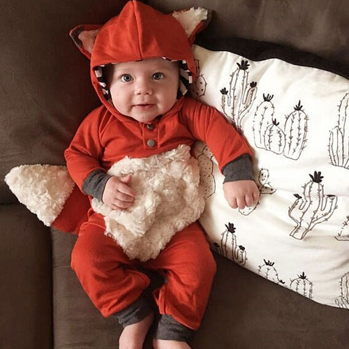 Newborn baby Adorable Fox Design Jumpsuit