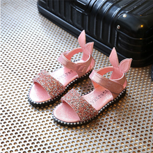 Load image into Gallery viewer, Rabbit ear rhinestone girls shoes