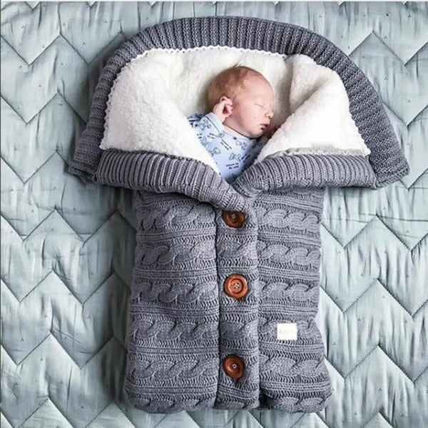 Warm baby plush sleeping bag