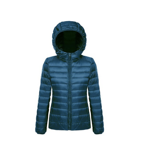 Women's light white duck down jacket