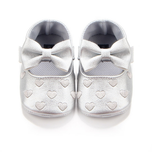 Baby / Toddler Bowknot Decor Heart Prewalker Velcro Shoes
