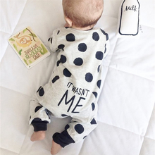 Load image into Gallery viewer, Dotted Letter Print trendy baby boy clothes