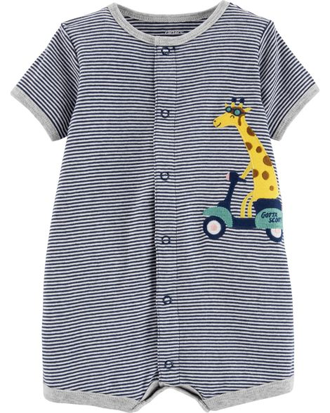 Giraffe Snap-Up Romper