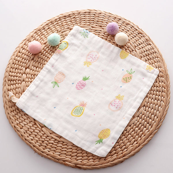 Newborn baby cartoon saliva towel wash towel