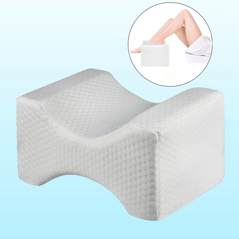 Corrected shape memory foam knee wedge pillow, improve sleep, relieve sciatic nerve and back hip pain