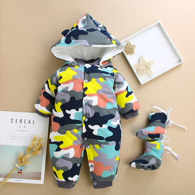 Baby fall camouflage coats