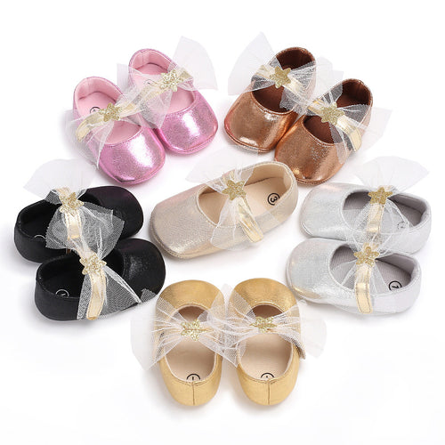 Female baby bright color princess shoes