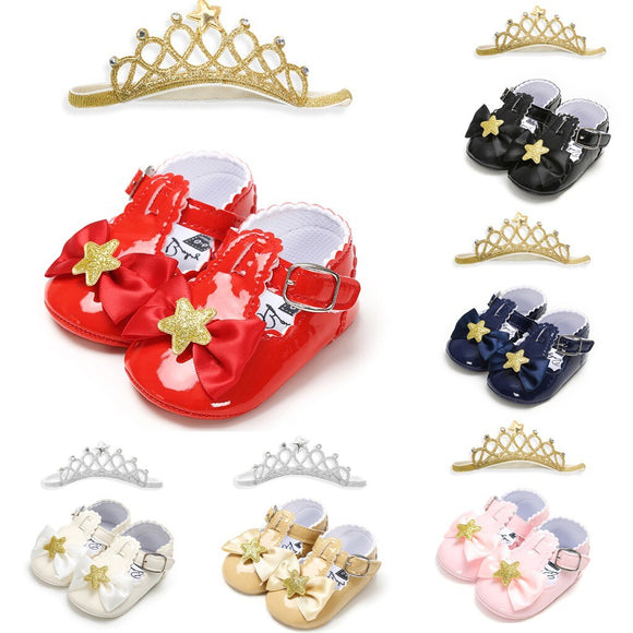 Five-star mirror baby princess shoes